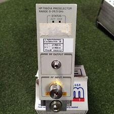Hpagilent 70601a Preselector Module 0 265ghz Plug In Module