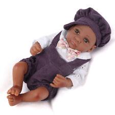 Full Vinyl Silicone Reborn African American Dolls Lifelike Boy Doll Newborn Baby
