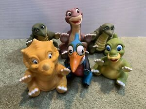 6 Vintage Pizza Hut 1988 Complete Lot Land Before Time Hand Puppets  #2  Petrie