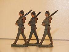 3 anciens petits soldats de plomb - CBG Mignot - Poilus WW1