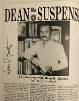 SIGNED by DEAN KOONTZ (TWICE!) THE BLACK PUMPKIN - (1986) TWILIGHT ZONE MAGAZINE