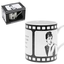 Audrey Hepburn Fine China Mug Film Reel Design Gift Boxed