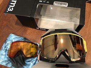 NEW Anon M3 Burton Ski Snow Goggles Green Sonar Bronze / Infrared 2x Zeiss Lens