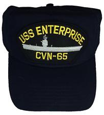 USS ENTERPRISE CVN-65 HAT CAP USN NAVY SHIP BIG E AIRCRAFT CARRIER NUCLEAR POWER