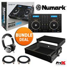Numark Mixdeck Express MkII CD DJ Controller + ProX Road Case + HF125 + 2 XLR