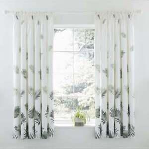 Charlotte Thomas Fern Green Pencil Pleat Curtains