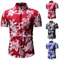 Fantaisie de vacances plage chemise hawaïenne hommes hauts à manches courtes WAZ