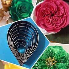7Pcs Rose Petal Cookie Cutter Pastry Mold Mould Sugar Craft Cake Decor Tool DIY