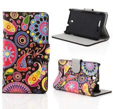 Cover e custodie pelle sintetici neri modello Per Sony Xperia E per cellulari e palmari