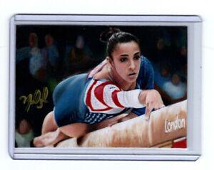 1/1 Original Sketch Card Aly Raisman USA  Gymnast By Anthony Douglas