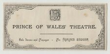 "ANTIQUE VICTORIAN ERA THEATRE PROGRAMME ""Capt Therese"" Prince of Wales Theatre"