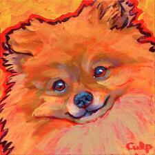Pomeranian Smiling Print 8x10 by Lynn Culp (LC027) - Free Shipping