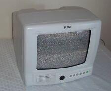 Vintage RCA TV 9'' White Retro Video Gaming Works Well E09310 FM Radio Kitchen