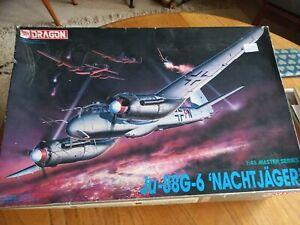 Dragon model kit. Ju-88g-6. Nachtjager. airplane
