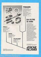 QUATTROR984-PUBBLICITA'/ADVERTISING-1984- TRIONE RICAMBI - TRIGER
