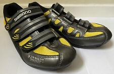 NEW Shimano SH-R122 SPD Cycling Bike Shoes Carbon Grey Yellow Size EU 41 UK 6.5
