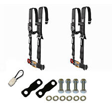 "Pro Armor 4 Point Harness 2"" Seat Belt Pair Mount Kit Bypass Black YXZ1000R 2017"