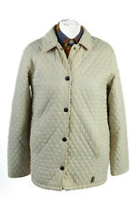 Vintage Barbour Quilted Womens Coat Jacket Warm Lined Warm Size 10 Cream - C1863