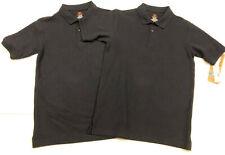 Boys Dockers Navy Stretch Pique Polo School Uniform Shirt Large 14/16 Lot Of 2