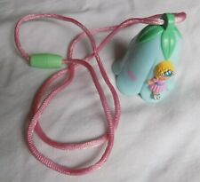 Polly Pocket 1992 Magic Wishing Bell Necklace - Blue Version 100% Complete