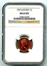 1967 CANADA CENT NGC MS65 RD DOVE CENTENNIAL 1867-1967 COPPER COIN