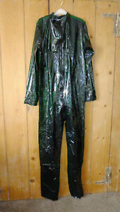 PVC-U-Like PVC OverallJump Boiler Suit Romper Roleplay Clear Green XL Plastic