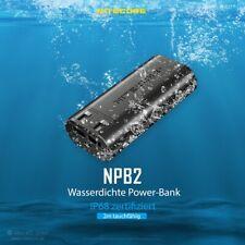 Nitecore Powerbank NPB2 - 10.000 mAh, wasserdicht & robust mit 2 USB-A-Ausgängen