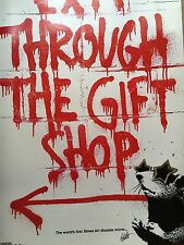 Exit Through The Gift Shop Banksy Print Official Release Signed MBW RON ENGLISH!