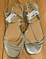 Womens Next Silver Sandals -UK size 6 EU size 39
