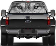 Wolf Head Eyes B/W Window Graphic Decal Sticker Truck SUV Van Car