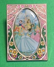 Disney Princesses Stained Glass Art Nouveau Pin