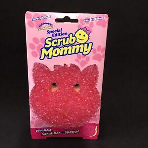 Scrub Mommy Kitty Cat Dual Sided Scrubber Sponge Cleaning Pad Scrub Daddy
