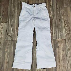 Spyder Ski Snowboard Snow Pants Youth Boys/Girls Kids White Size 10 Room to Grow