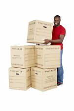 5 x Medium Printed Moving Boxes - Removal & Storage Cardboard Boxes