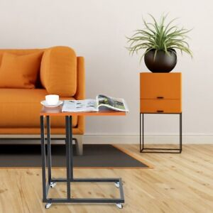 Modern Sofa Side Table Coffee Tea Tables With Wheels Furniture Access Home Use