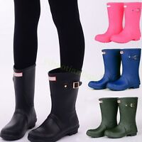 Womens Girl Candy Mid Calf Boots Rain Waterproof Skid Shoes Outwear Stylish hot