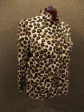 Charter Club NEW NWT Womens 20W Sporty Lightweight Animal Cheetah Leopard Jacket