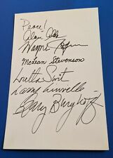 Alda Swit Linville Stevenson Berghoff  Rogers cast signed 4077 MASH autograph