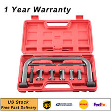 Valve Spring Compressor C Frame Service Car Auto Motorcycle Pusher Tool Set+Case