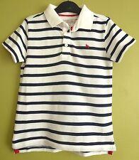 H&M Boys Kids Children's Striped Polo Shirt Dark Blue 4-6 Years BNWT Uk Freepost