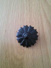 Vintage plasticlucite black circular brooch