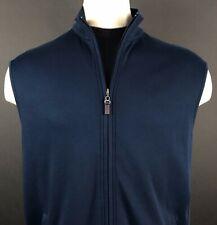 Daniel Cremieux Sleeveless Navy Blue Full Zip Vest Men's Size L Signature Coll