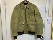 VINTAGE GUESS LEATHER BOMBER JACKET SIZE S