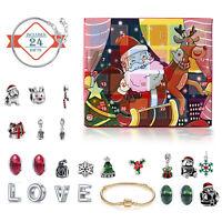 Weihnachten Adventskalender DIY Charm Schmuck Armband  Countdown bis 24 Tage