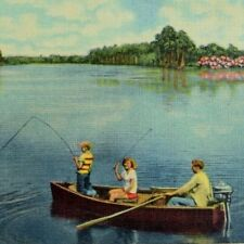 Vintage Fishing in Clermont, Florida, Chain of Lakes Postcards P47