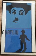 Charlie Chaplin Modern Acrylic on Paper Painting Signed RHEAUME Jeanne?