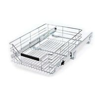 Sliding Storage Drawer Shelf and Cabinet Steel Wire By Seville Classics