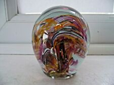 STUNNING ISLE OF WIGHT GLASS PAPERWEIGHT SCRAMBLED SWIRLS EXCELLENT SEE PICTURES