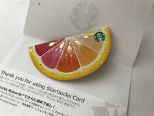 2020 Japan Starbucks Summer Lemon Die Cut Mini Gift Card