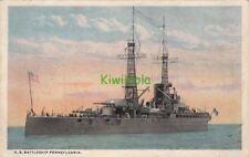 Postcard Ship US Battleship Pennsylvania